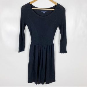 American Eagle Small Black Ribbed Sweater Dress